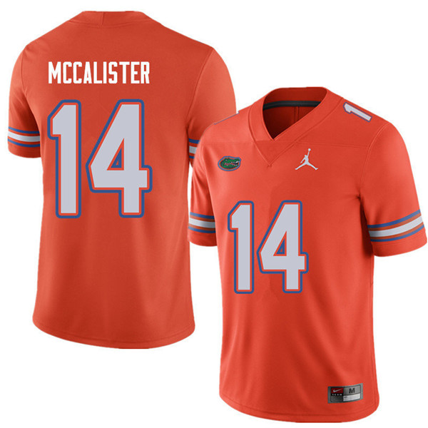 Jordan Brand Men #14 Alex McCalister Florida Gators College Football Jerseys Sale-Orange