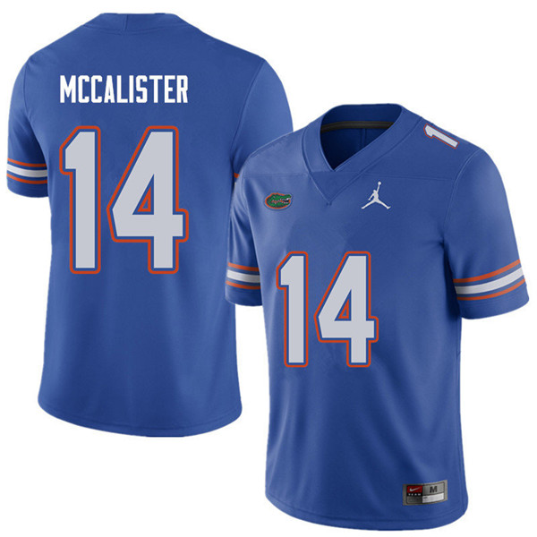 Jordan Brand Men #14 Alex McCalister Florida Gators College Football Jerseys Sale-Royal
