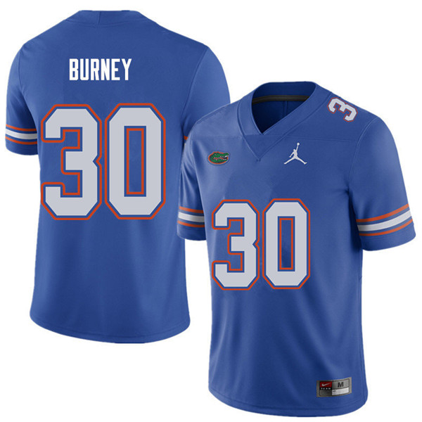 Jordan Brand Men #30 Amari Burney Florida Gators College Football Jerseys Sale-Royal