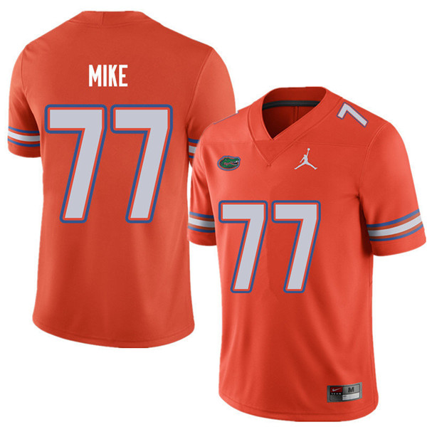 Jordan Brand Men #77 Andrew Mike Florida Gators College Football Jerseys Sale-Orange