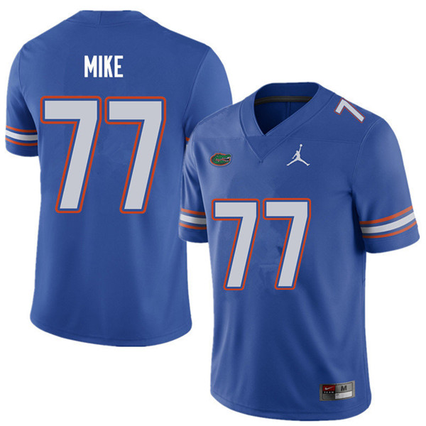 Jordan Brand Men #77 Andrew Mike Florida Gators College Football Jerseys Sale-Royal