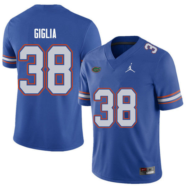 Jordan Brand Men #38 Anthony Giglia Florida Gators College Football Jerseys Sale-Royal