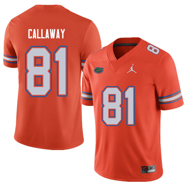 Jordan Brand Men #81 Antonio Callaway Florida Gators College Football Jerseys Sale-Orange