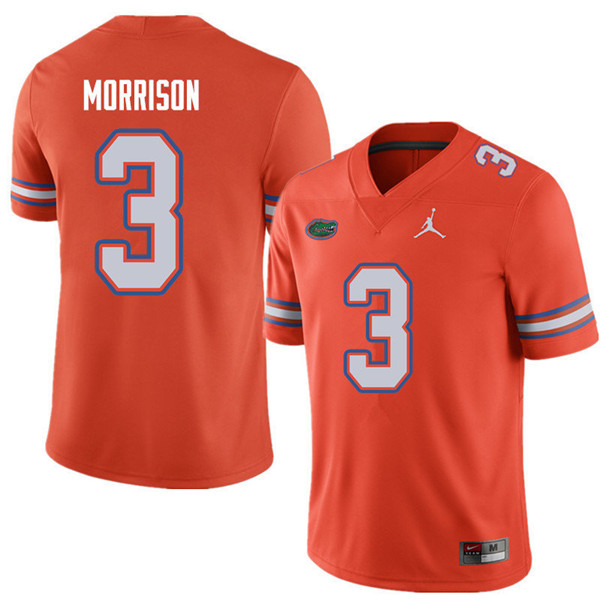 Jordan Brand Men #3 Antonio Morrison Florida Gators College Football Jerseys Sale-Orange