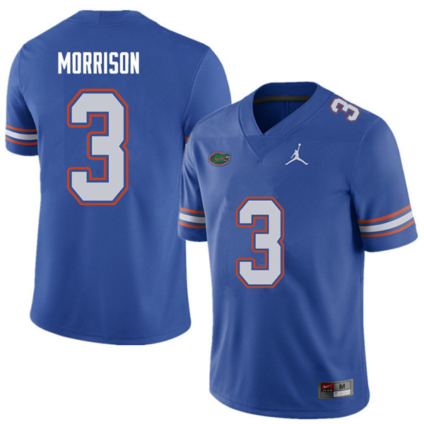 Jordan Brand Men #3 Antonio Morrison Florida Gators College Football Jerseys Sale-Royal