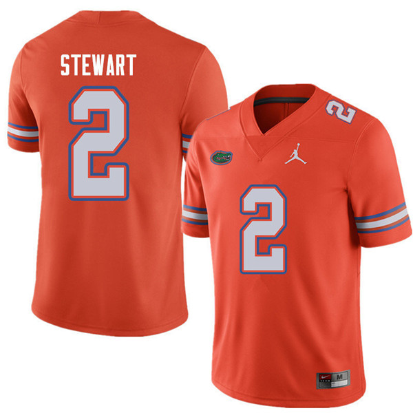 Jordan Brand Men #2 Brad Stewart Florida Gators College Football Jerseys Sale-Orange