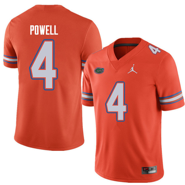 Jordan Brand Men #4 Brandon Powell Florida Gators College Football Jerseys Sale-Orange