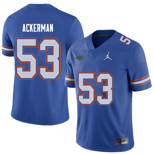 Jordan Brand Men #53 Brendan Ackerman Florida Gators College Football Jerseys Sale-Royal