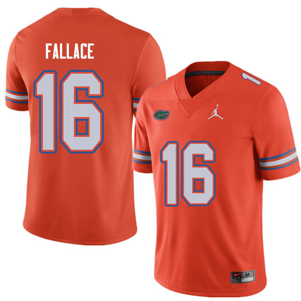 Jordan Brand Men #16 Brian Fallace Florida Gators College Football Jerseys Sale-Orange