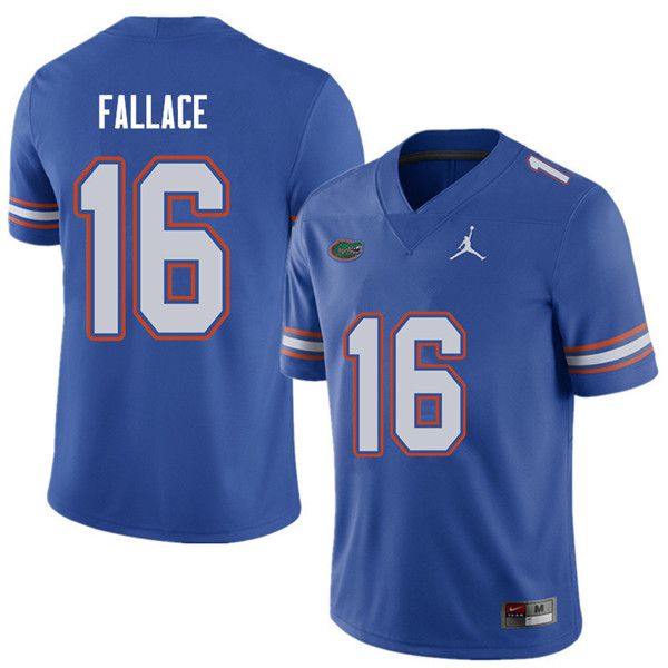 Jordan Brand Men #16 Brian Fallace Florida Gators College Football Jerseys Sale-Royal