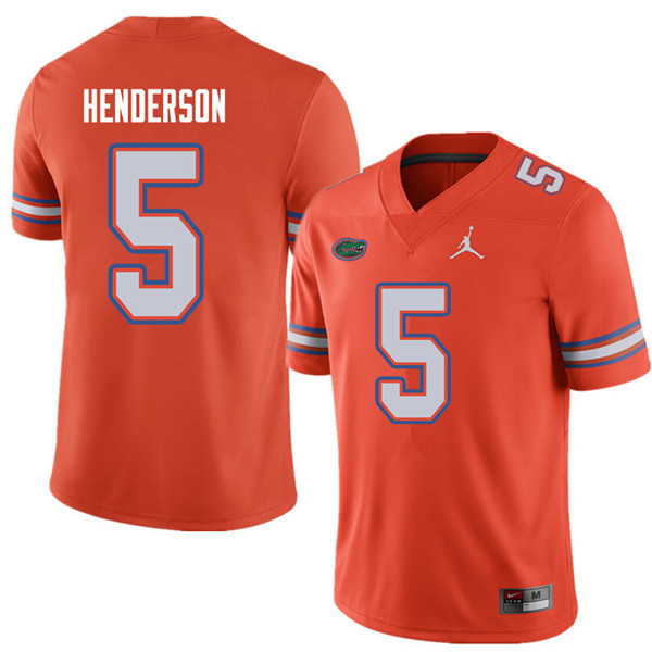 Jordan Brand Men #5 CJ Henderson Florida Gators College Football Jerseys Sale-Orange