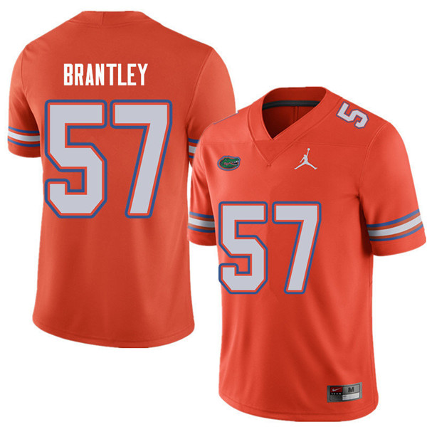 Jordan Brand Men #57 Caleb Brantley Florida Gators College Football Jerseys Sale-Orange
