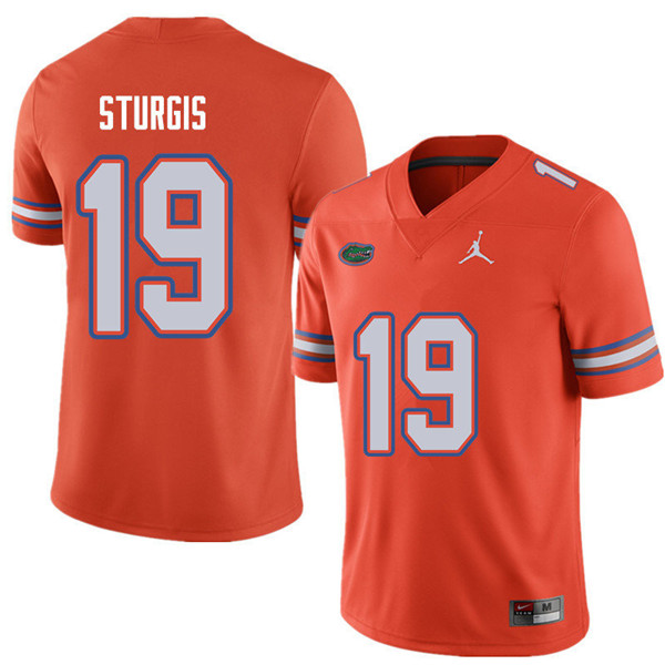 Jordan Brand Men #19 Caleb Sturgis Florida Gators College Football Jerseys Sale-Orange