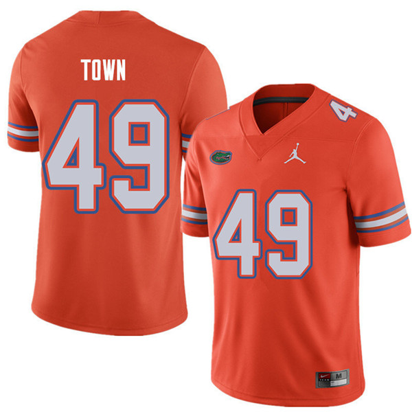 Jordan Brand Men #49 Cameron Town Florida Gators College Football Jerseys Sale-Orange