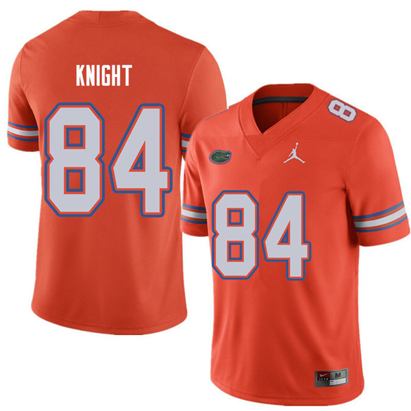 Jordan Brand Men #84 Camrin Knight Florida Gators College Football Jerseys Sale-Orange
