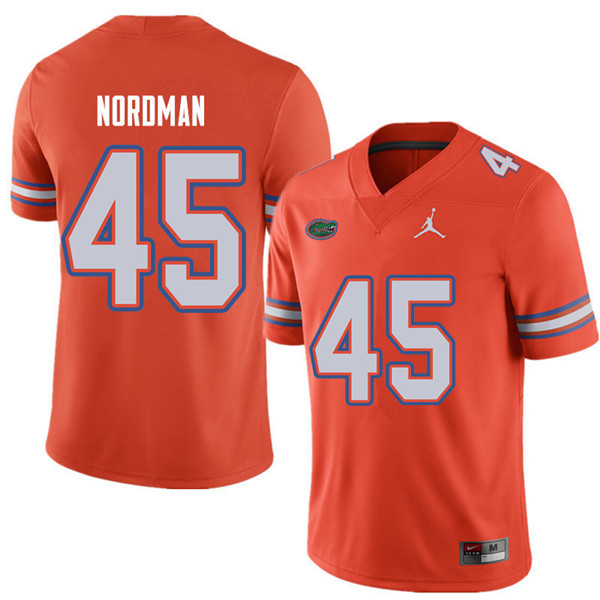 Jordan Brand Men #45 Charles Nordman Florida Gators College Football Jerseys Sale-Orange