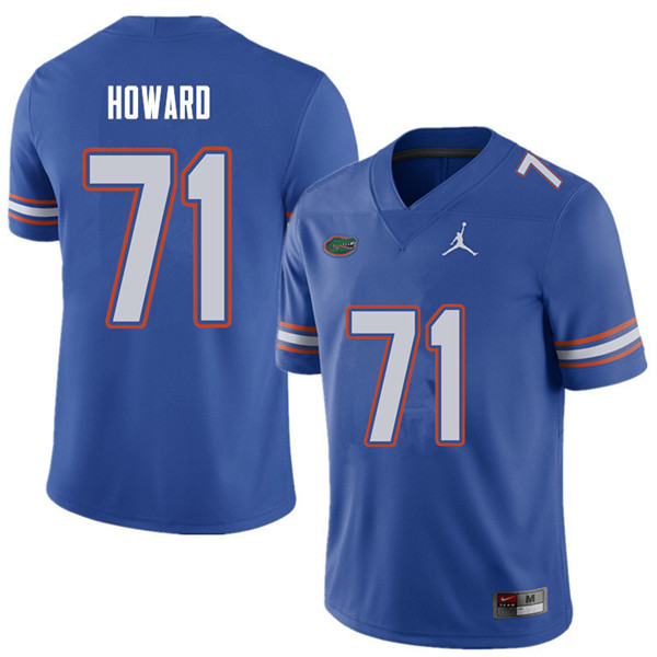 Jordan Brand Men #71 Chris Howard Florida Gators College Football Jerseys Sale-Royal