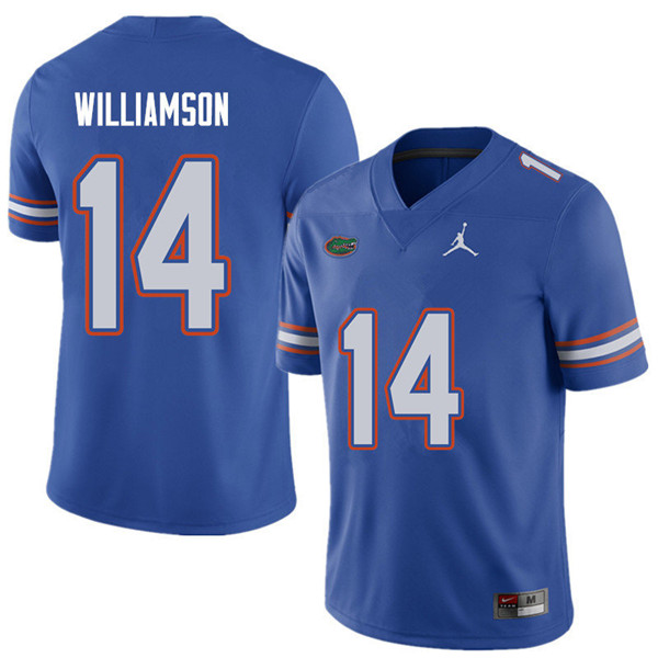 Jordan Brand Men #14 Chris Williamson Florida Gators College Football Jerseys Sale-Royal