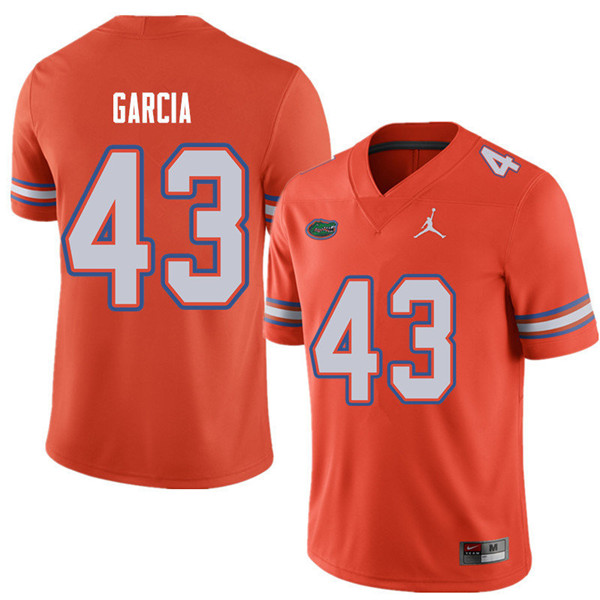 Jordan Brand Men #43 Cristian Garcia Florida Gators College Football Jerseys Sale-Orange
