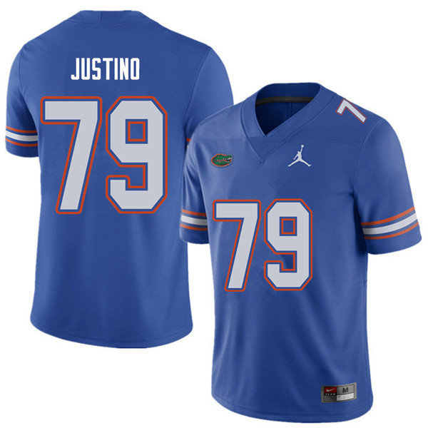 Jordan Brand Men #79 Daniel Justino Florida Gators College Football Jerseys Sale-Royal