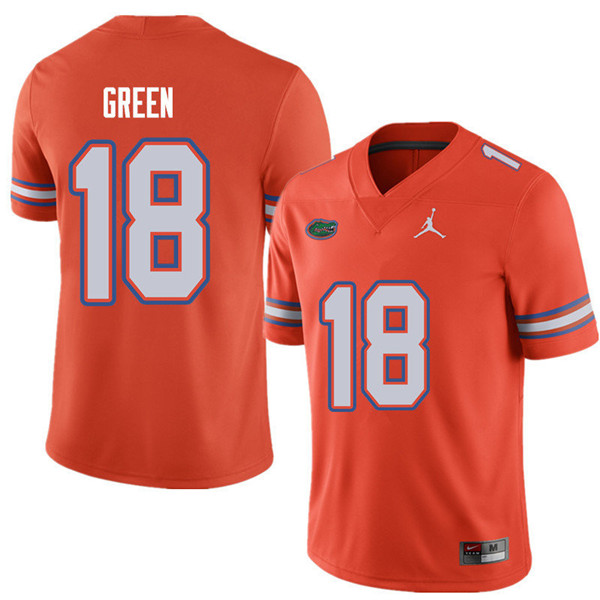 Jordan Brand Men #18 Daquon Green Florida Gators College Football Jerseys Sale-Orange