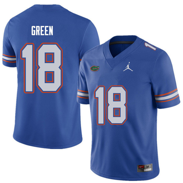 Jordan Brand Men #18 Daquon Green Florida Gators College Football Jerseys Sale-Royal