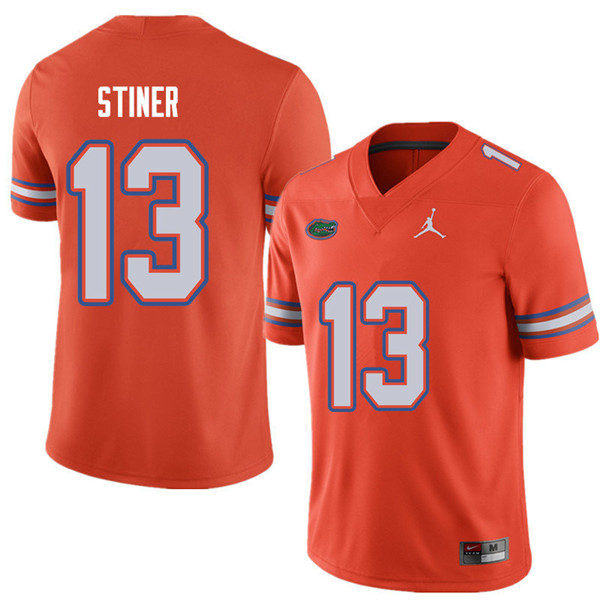 Jordan Brand Men #13 Donovan Stiner Florida Gators College Football Jerseys Sale-Orange