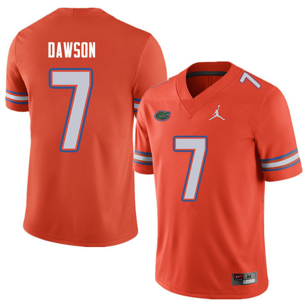 Jordan Brand Men #7 Duke Dawson Florida Gators College Football Jerseys Sale-Orange