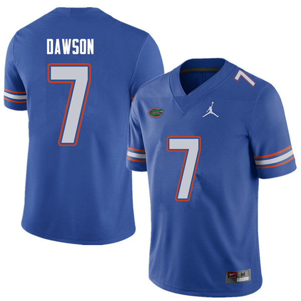 Jordan Brand Men #7 Duke Dawson Florida Gators College Football Jerseys Sale-Royal