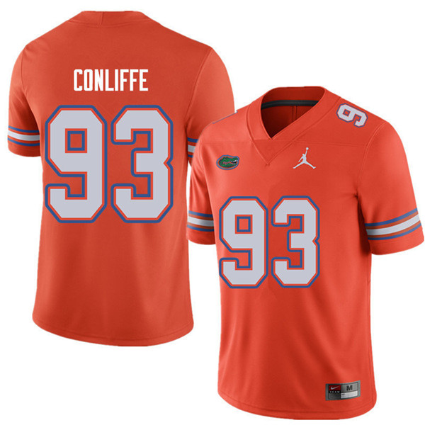 Jordan Brand Men #93 Elijah Conliffe Florida Gators College Football Jerseys Sale-Orange