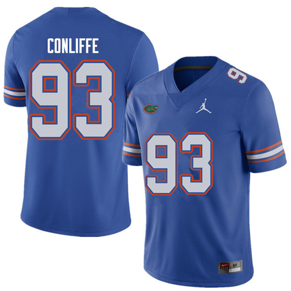 Jordan Brand Men #93 Elijah Conliffe Florida Gators College Football Jerseys Sale-Royal