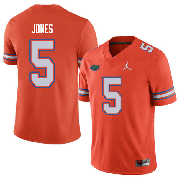Jordan Brand Men #5 Emory Jones Florida Gators College Football Jerseys Sale-Orange