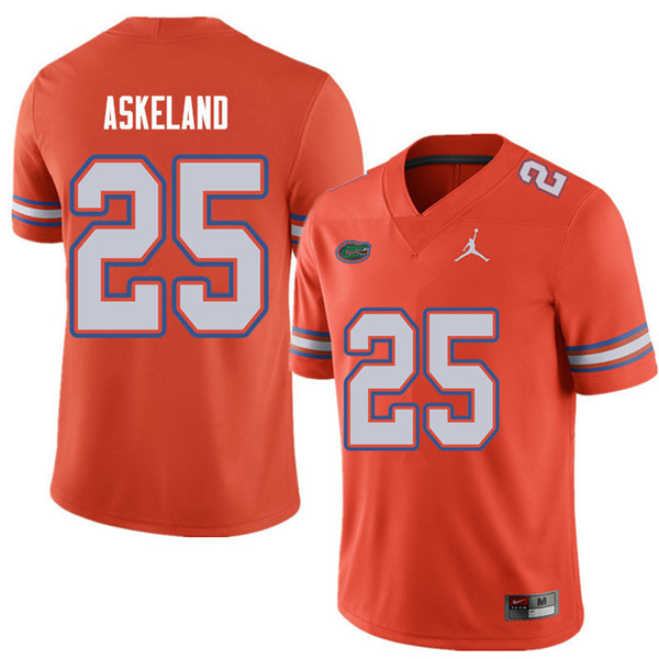 Jordan Brand Men #25 Erik Askeland Florida Gators College Football Jerseys Sale-Orange
