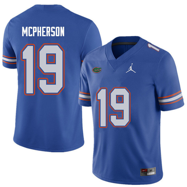 Jordan Brand Men #19 Evan McPherson Florida Gators College Football Jerseys Sale-Royal