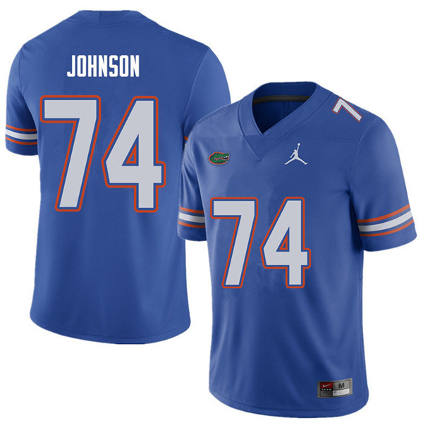 Jordan Brand Men #74 Fred Johnson Florida Gators College Football Jerseys Sale-Royal