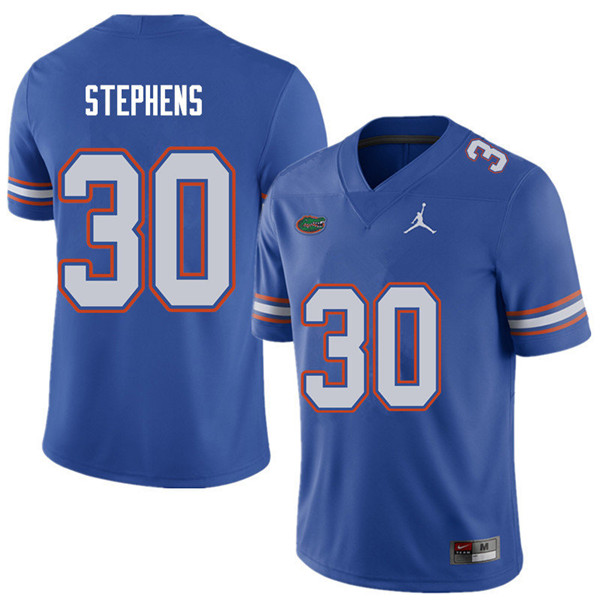 Jordan Brand Men #30 Garrett Stephens Florida Gators College Football Jerseys Sale-Royal