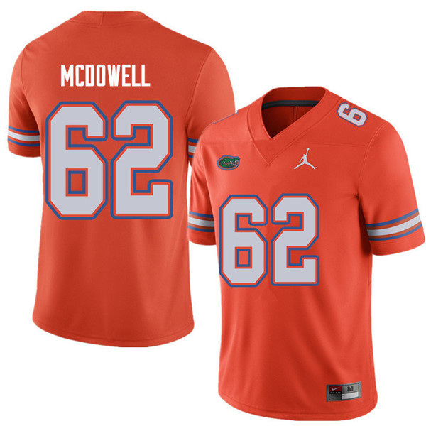Jordan Brand Men #62 Griffin McDowell Florida Gators College Football Jerseys Sale-Orange