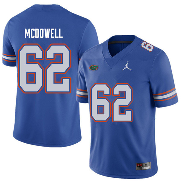 Jordan Brand Men #62 Griffin McDowell Florida Gators College Football Jerseys Sale-Royal