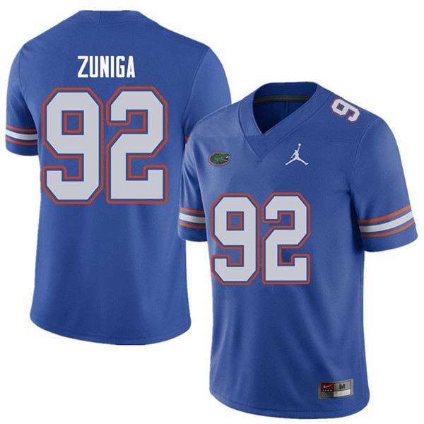 Jordan Brand Men #92 Jabari Zuniga Florida Gators College Football Jerseys Sale-Royal