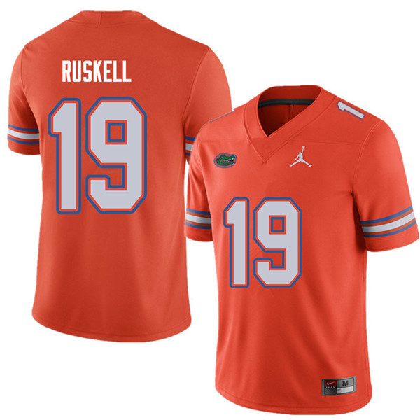 Jordan Brand Men #19 Jack Ruskell Florida Gators College Football Jerseys Sale-Orange