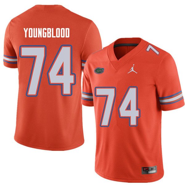 Jordan Brand Men #74 Jack Youngblood Florida Gators College Football Jerseys Sale-Orange