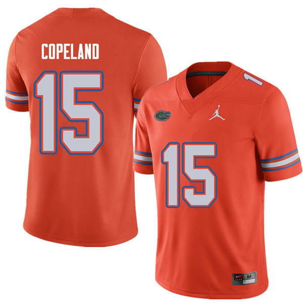 Jordan Brand Men #15 Jacob Copeland Florida Gators College Football Jerseys Sale-Orange