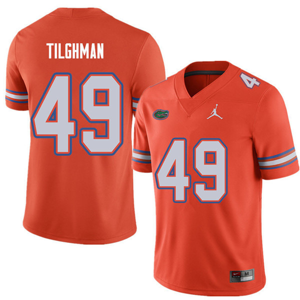 Jordan Brand Men #49 Jacob Tilghman Florida Gators College Football Jerseys Sale-Orange