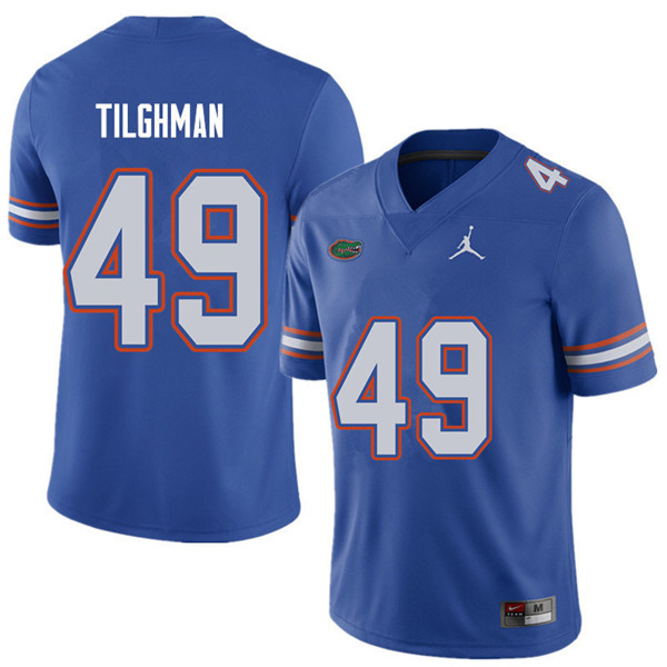 Jordan Brand Men #49 Jacob Tilghman Florida Gators College Football Jerseys Sale-Royal