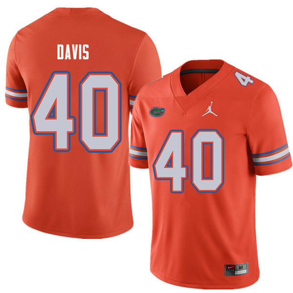 Jordan Brand Men #40 Jarrad Davis Florida Gators College Football Jerseys Sale-Orange