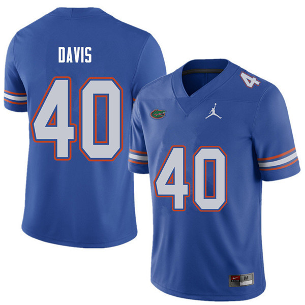 Jordan Brand Men #40 Jarrad Davis Florida Gators College Football Jerseys Sale-Royal