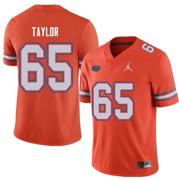 Jordan Brand Men #65 Jawaan Taylor Florida Gators College Football Jerseys Sale-Orange