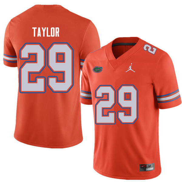 Jordan Brand Men #29 Jeawon Taylor Florida Gators College Football Jerseys Sale-Orange