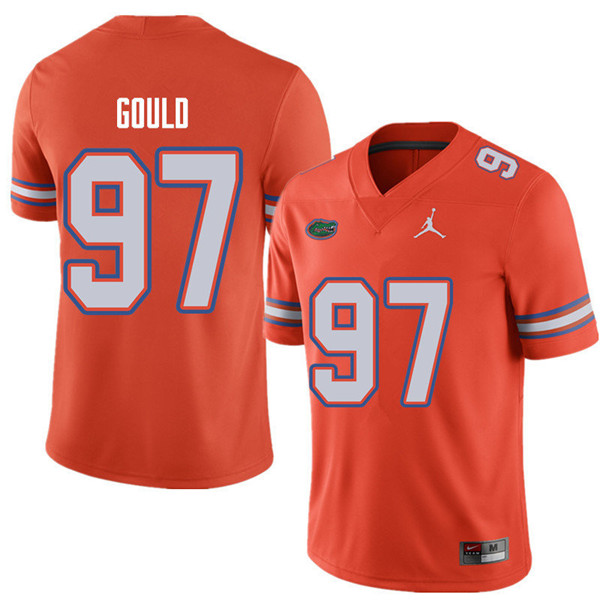 Jordan Brand Men #97 Jon Gould Florida Gators College Football Jerseys Sale-Orange