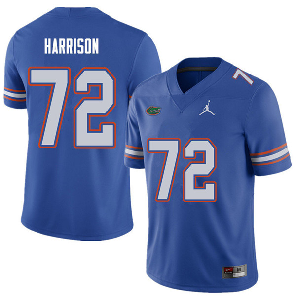 Jordan Brand Men #72 Jonotthan Harrison Florida Gators College Football Jerseys Sale-Royal